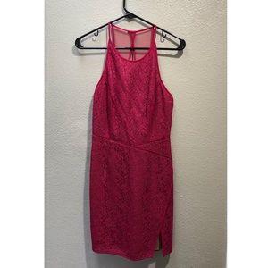 BCBG MaxAzria Pink Lace Minidress NWOT, Sz 4